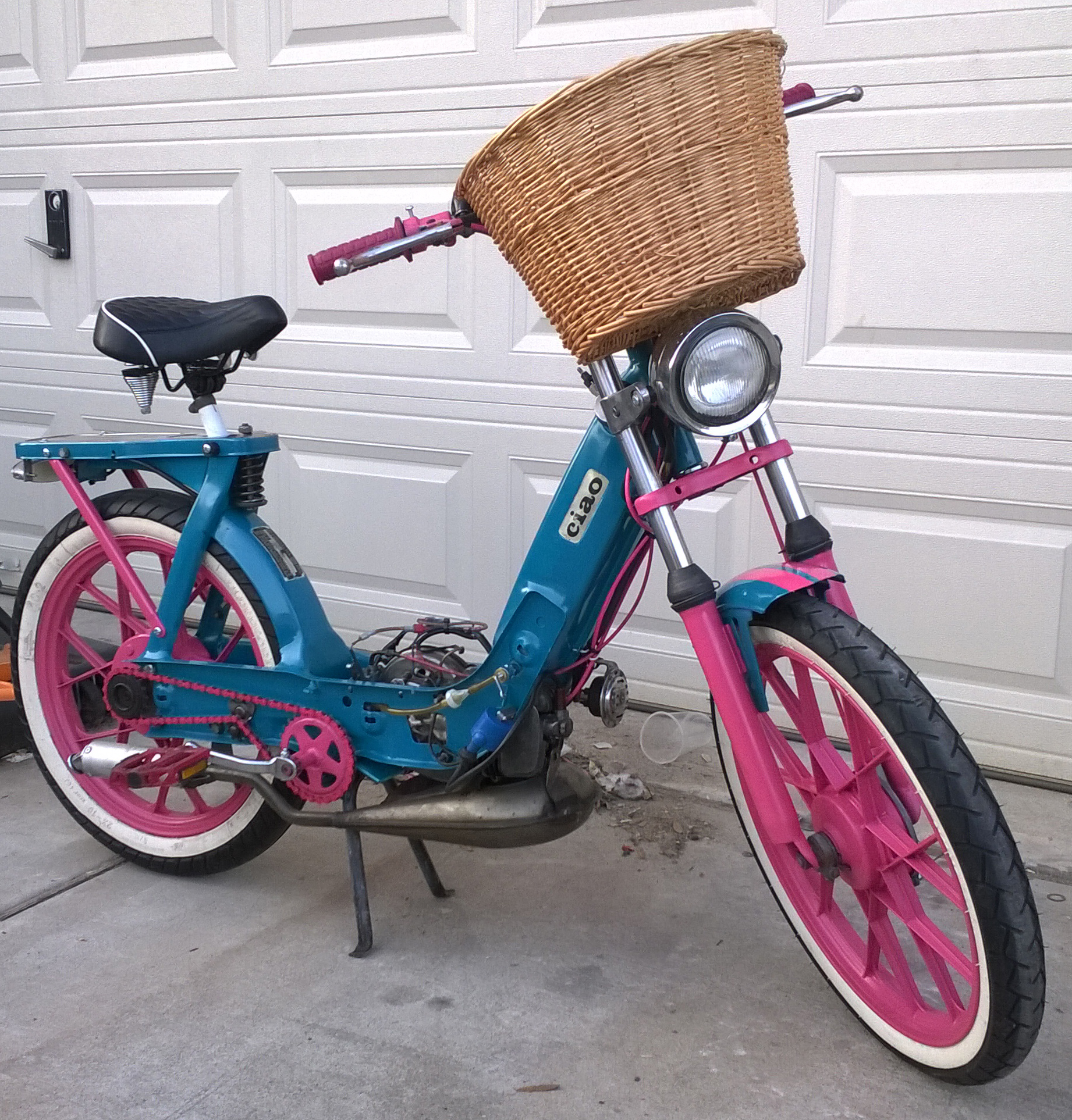 1978 JC Penney Pinto Moped Ride To Work::