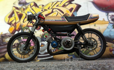 CUSTOM MOPEDS | TOMOS TARGA CAFE RACER